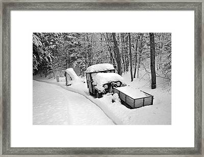 Framed Print featuring the photograph Blanket Of Snow by Barbara West