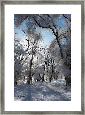 Blanket Of Snow Framed Print by Jeff Swanson