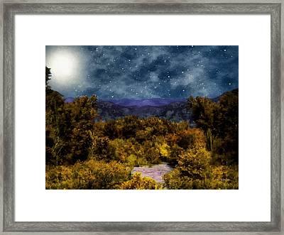 Blanket Of Stars Framed Print by RC deWinter