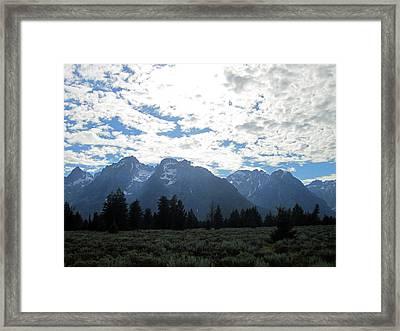 Blanketed Giants Framed Print