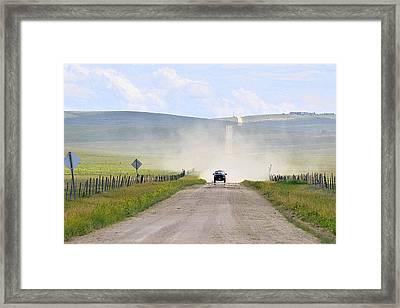 Blasingame Road   Framed Print by Clarice  Lakota