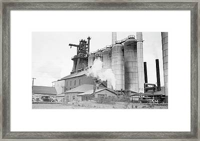 Blast Furnaces Framed Print by Hagley Museum And Archive