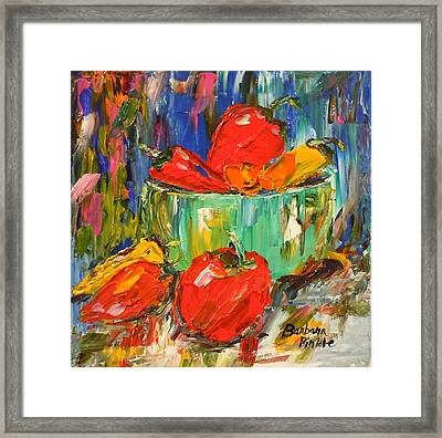 Blast Of Color Framed Print by Barbara Pirkle