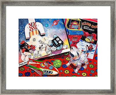 Blast Off Framed Print by Judy Koenig