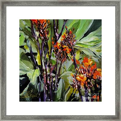 Framed Print featuring the painting Blaze by Andrew Drozdowicz