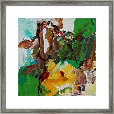 Blaze Of White Horse 23 2014 Framed Print
