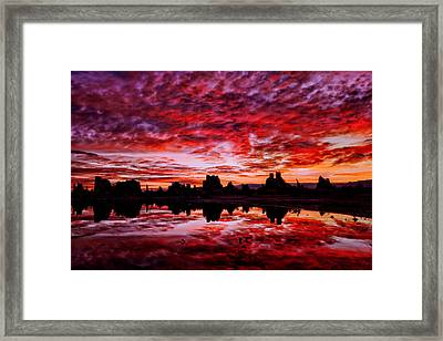 Blazing Dawn Framed Print
