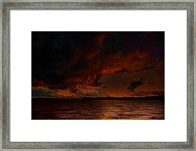 Blazing Glory Framed Print by Steven Richardson
