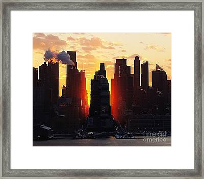 Blazing Morning Sun Framed Print
