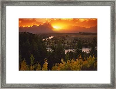 Blazing Framed Print