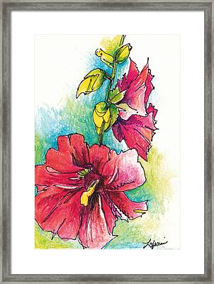 Blazing Red Framed Print by Lynda Dorris
