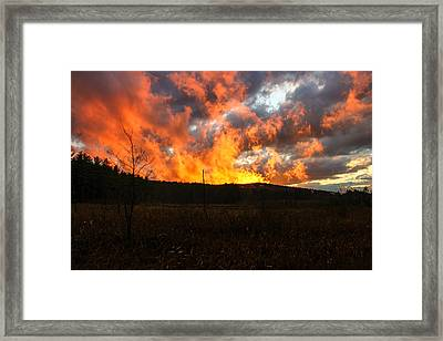 Blazing Sky Framed Print by Michael Donovan