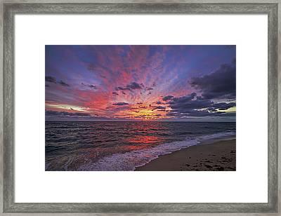 Blazing Sunrise Framed Print