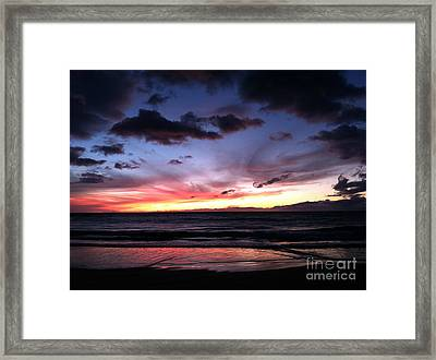 Blazing Sunset Framed Print by The Harrington Collection