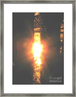 Blazing Sword Framed Print