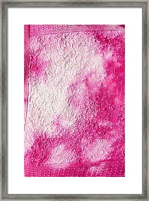Bleach Stains Framed Print