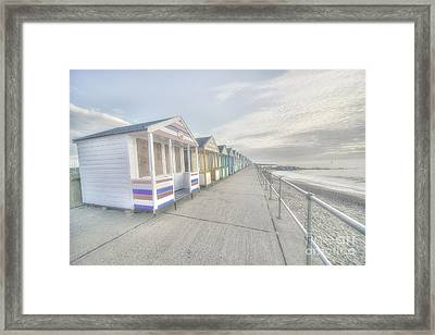 Bleached Huts At Southwold Framed Print by Rob Hawkins