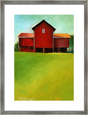 Bleak House Barn 2 Framed Print by Catherine Twomey