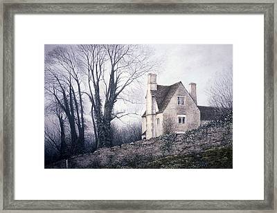 Framed Print featuring the painting Bleak House by Rosemary Colyer