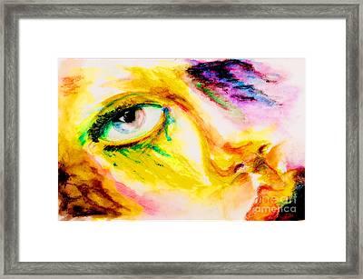Bleeding Eyes Framed Print by Steven  Christian