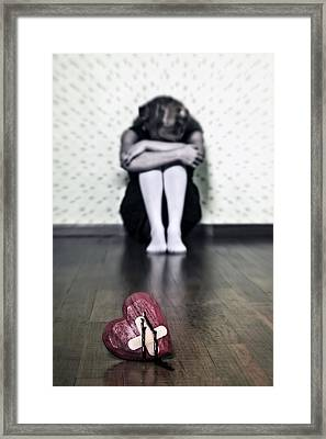 Bleeding Heart Framed Print by Joana Kruse