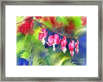 Bleeding Hearts Framed Print by Hailey E Herrera