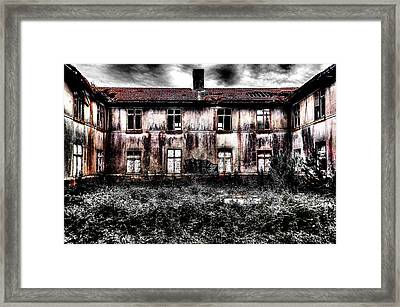 Bleeding House Framed Print by Marco Oliveira