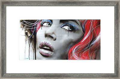 Portrait - ' Bleeding Rose ' Framed Print by Christian Chapman Art