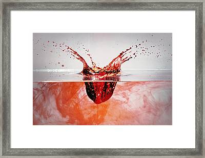 Bleeding Strawberry Framed Print
