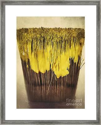 Bleeding Yellow Framed Print