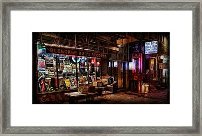 Bleeker Bob's Records Framed Print
