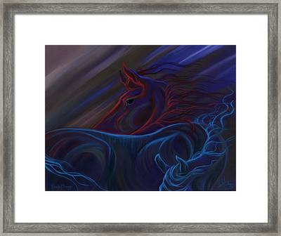 Blended Beings Framed Print