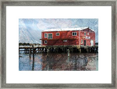 Blended Oregon Dock And Structure Framed Print by Ronald Hoggard