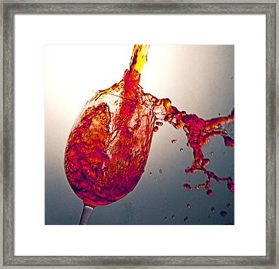 Blended Splash Framed Print by John Hoey