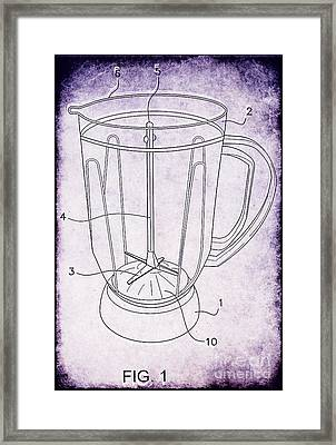 Blender Patent Framed Print by Edward Fielding