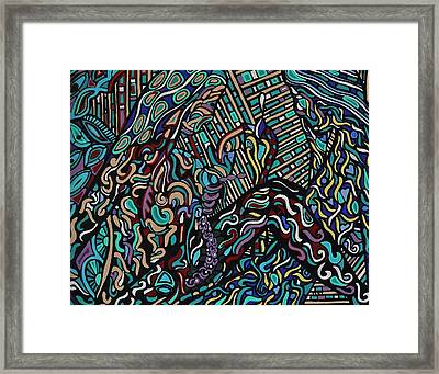 Blending In Or Standing Out Framed Print by Barbara St Jean