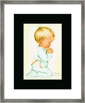Bless All Of Us Duvet Framed Print by Charlotte Byj