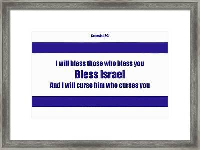 Bless Israel Poster Framed Print