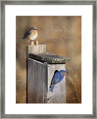 Bless Our Happy Home Framed Print by Lori Deiter