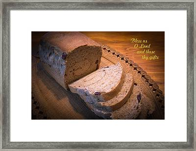 Bless Us O Lord Framed Print