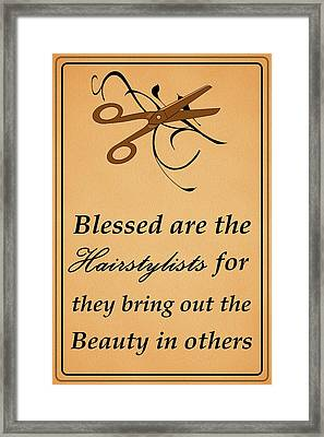 Blessed Are The Hairstylists  Framed Print by Movie Poster Prints