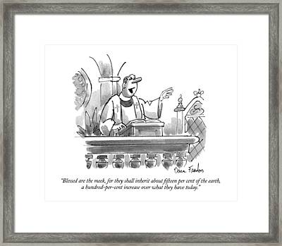 Blessed Are The Meek Framed Print