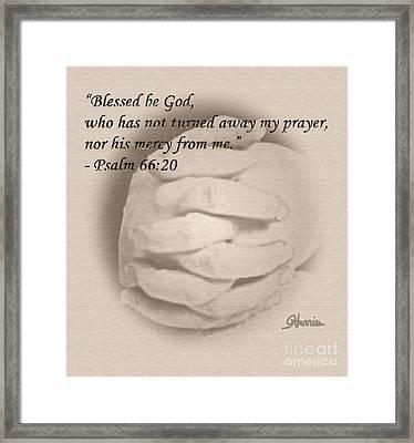 Blessed Be God Framed Print by Pharris Art