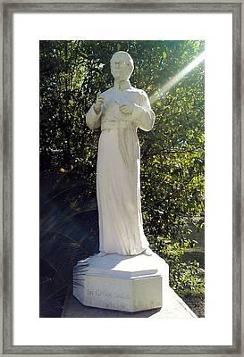 Blessed Francis Xavier Seelos C.ss.r. - New Orleans La  Framed Print by Deborah Lacoste