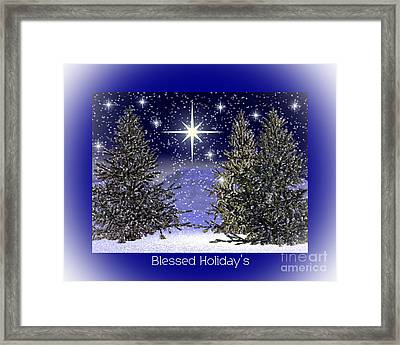 Blessed Holidays Framed Print