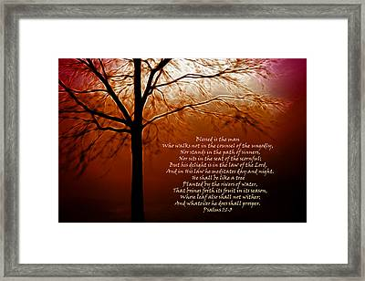 Blessed Is The Man Framed Print by Kathy Clark