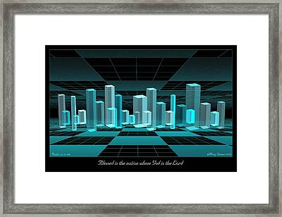 Blessed Is The Nation Framed Print