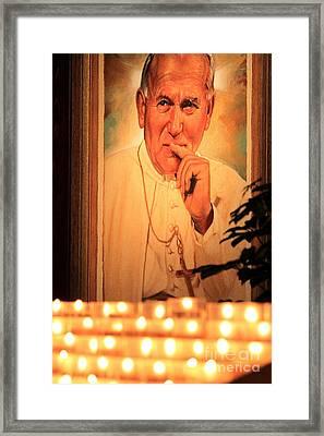 Framed Print featuring the photograph Saint John Paul II by Theresa Ramos-DuVon