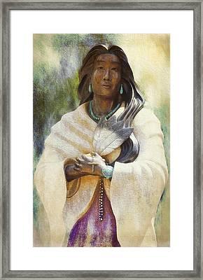 Blessed Kateri Tekakwitha  Framed Print