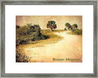 Blessed Memories Framed Print by Dawn Currie